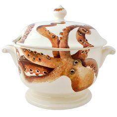 Shellfish Tureen. Emma Bridgewater China serving dish with an octopus