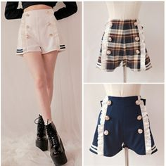 Sailor Style Lace Shorts With Bow On Back Free Ship SP141151 From Feb 15 - 26, SpreePicky is off for Chinese Traditional New Year holiday. Please enjoy self-shopping with coupon codes (valid from Feb15 - 28): * spring15 - 15% off at 80$ * spring20 - 20% off 150$ Available in both sites: spreepicky.storenvy.com www.spreepicky.com During this period, urgent orders would not be processed in time. All orders made during the time will be processed only until Feb 26 when we are back.