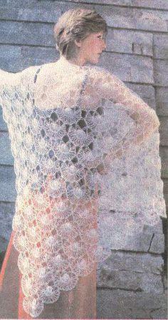 9e82b65242 Hairpin Lace Patterns, Hairpin Lace Crochet, Crochet Cape, Crochet Shawl,  Knit Crochet
