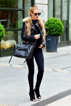 3 modi per sfruttare la giacca di pelle con il freddo gelido!