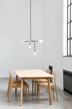Montreal-based lighting design studio Lambert&Fils. Inspired by Chinese traditional screens, the collection features clean lines and unique versatility.