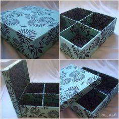 Caixa Flores ao Vento com divisórias -   www.munayartes.com 