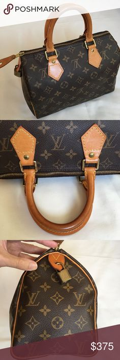 Louis Vuitton Speedy 25 in Monogram In fairly good condition. Mild wear on leather including light scuffs and discoloration, faint water marks at inside fabric, mild tarnishing and scratches on metals, no other major blemishes. Measurement numbers are adapted from official size. Come with lock and keys, make sure to check free dust bag listing. Date code is SD1000. I bought it at a flagship store in LA, and have owned it since then. Kept at smoke-free home all the time. Price is firm. Please…