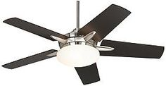"Casa Endeavor™ Ceiling Fan - 52"" Brushed Nickel Espresso"