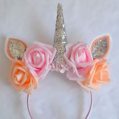 Unicorn horn headband by LittleBellesBowsx on Etsy                                                                                                                                                                                 More