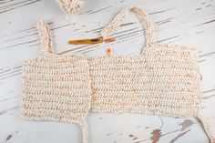 This crochet crop top pattern is beginner friendly using only basic stitches. It is a cute modern flair on crochet garments. This crochet crop top is. Crochet Summer Tops, Crochet Crop Top, Cute Crochet, Crochet Bikini, Knit Crochet, Crochet Shorts, Crochet Woman, Crochet Clothes, Crochet Projects