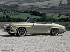 Mercedes-Benz 190SL - restored and modernized by AMG. Looks great, even though one should not touch true classic design. We like it!