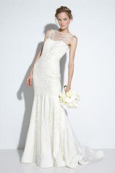 Illusion Neckline Wedding Dress by Nicole Miller