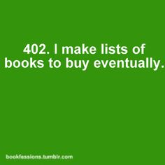 On envelopes, brochures, old reciepts, anything I can find in my purse while I am at the bookstore looking. :)