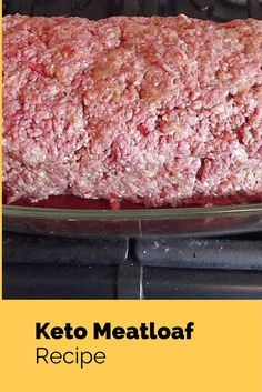 Delicious and easy to make keto meatloaf recipe. Based on a recipe by Elton Brown, but modified to lower the amount of carbs in the meatloaf. Meatloaf Recipes, Meat Recipes, Low Carb Recipes, Paleo Recipes, Dinner Recipes, Camping Recipes, Detox Recipes, Summer Recipes, Delicious Recipes