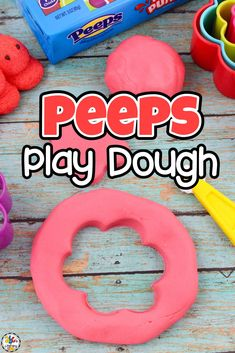 What's better then eating Peeps? Making Marshmallow Peeps Play Dough! This simple play dough recipe is an easy sensory play activity that can be used as a hands-on tool to help your kids with letter recognition, pre-writing skills, and more. By squeezing, rolling, and squishing the dough, your kids will develop their fine motor skills and strengthen their hand muscles. The skills will help them learn to write! Click on the picture to get this play dough recipe! #playdoughrecipe #peepspplaydough