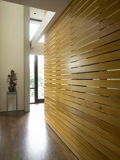 wood slat wall - Google Search