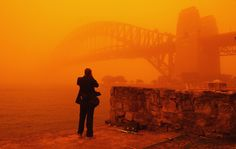 """""""Oh I'm sorry Mr Tourist, did my desert dust storm ruin your Sydney Harbour photo opportunity?"""""""