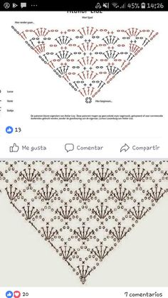 Crochet Shrug Pattern, Crochet Diagram, Crochet Poncho, Crochet Scarves, Crochet Lace, Crochet Stitches, Crochet Patterns, Crochet Triangle, Shawl Patterns
