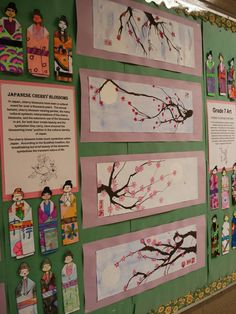 Cool Japanese unit! Love the cherry blossom art! This site has so many great art projects!!