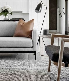 Astonishing Scandinavian Living Room Interior Designs – Page 13 of 55 – Top Trend – Decor – Life Style Living Room Carpet, Rugs In Living Room, Living Room Designs, Living Room Decor, Cozy Living, Scandinavian Interior Living Room, Living Room Interior, Living Room Furniture, Decoration Gris