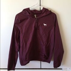 8581208bb12c Victoria s Secret maroon windbreaker Pre loved. The dog is stArting to peel  off Victoria s Secret