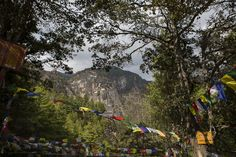 Prayer flags wave in the wind at Bhutan. Image: Conor_Ashleigh_-®2014