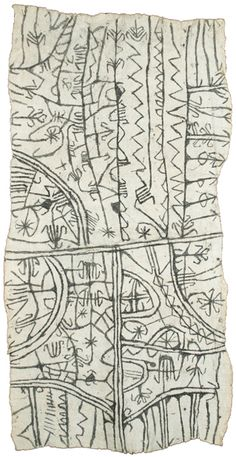 Mbuti textile  Last quarter 20th century  Bark cloth    Courtesy of Gebhart Blazek