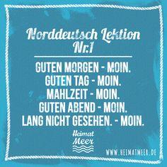 """Norddeutsch Lektion Nr. 1: """"Moin"""" >>"""