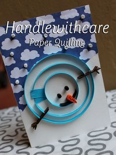 Paper quilling Snow man, quilling christmas