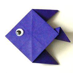 origami fisch falten aus papier einfache anleitung origami fisch fisch falten und origami. Black Bedroom Furniture Sets. Home Design Ideas