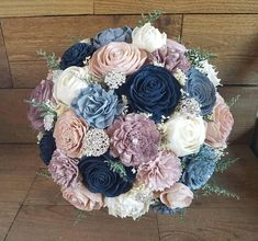 Limited- Custom Navy Mauve Dusty Blue Steel Blush Sola Flower Bouquet Bridesmaids Toss Flower Girl dried Flowers Brooch Bouquet Style 77 Inspo for ChelseaAs a guide, leave 3 feet of strolling space in high traffic areas and one to two feet in between Mauve Wedding, Blue Wedding Flowers, Sola Wood Flowers, Flower Bouquet Wedding, Dried Flowers, Wedding Colors, Steel Blue Weddings, Dusty Blue Weddings, Broschen Bouquets