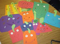 Spookley the Square Pumpkins, cutting out pumpkins in different shapes and colors