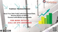 Facing Problem in Business Growth due to COVID 19, Call us Today : 079-48058888. Reach to Genuine Buyer. Expand your Market Across India. Guaranteed Sale and Much More. Boost your Business with no Extra Cost. We are just a call away!!! Your Ultimate Business Booster visit us : www.tradvisor.in #business #marketing #digitalmarketing #technology #design #wholesale #love #covid #leadgeneration #instagram #follow #motivation #lifestyle #live #india #instagood #inspiration #repost #life #fashion Technology Design, Lead Generation, Growing Your Business, Business Marketing, Digital Marketing, India, Motivation, Lifestyle, Live