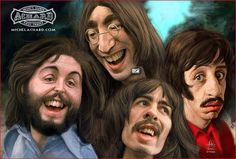 Caricatura de The Beatles.