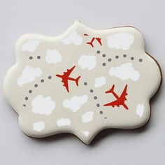 In The Clouds Background Cookie Stencil by Confection Couture