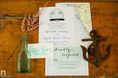 Custom Nautical Wedding Invitation Suite