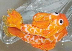 JAPANESE KOI FISH. lampwork focal bead. Orange and White Koi. $45.00, via Etsy.