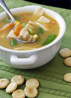Hearty chicken vegetable soup with kale is perfect for the cool nights ...
