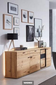 Esszimmer Sideboard with real wood veneer from VENJAKOB. # dining room # dining room # sideboard # f Dining Room Sideboard, Sideboard Furniture, Farmhouse Furniture, Credenza, Side Board, Black Queen, Muebles Living, Farmhouse Chic, Wood Veneer