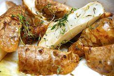 Se opskriften her. Dinner Sides, Yummy Eats, Shrimp, Sausage, Side Dishes, Veggies, Snacks, Cooking, Recipes