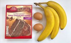 Cake Mix Cookie Recipes, Cake Mix Cookies, Dessert Recipes, Desserts, Banana Oat Muffins, Lemon Muffins, 3 Ingredient Cakes, Cake Mix Muffins, Banana And Egg