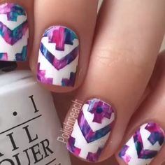 """Nailss on Instagram: """"Aztec nails by @PolishPeach"""""""