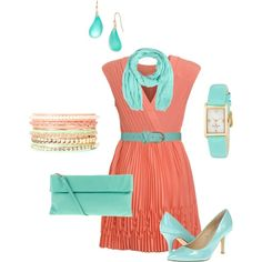 Pink and Blue Outfit by hread on Polyvore