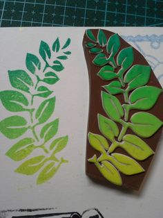 *罒▽罒* leafy branch stamp, gradated colors