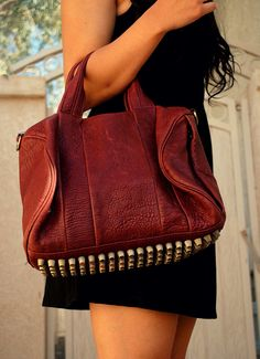 Oh Rocco, why you so sexy? But i dont know if I'll be able to take your weight. Alexander Wang Rocco Studded Bag