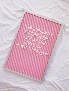 hahaha! yes! // I'm currently experiencing life at the speed of 15 WTF's per hour