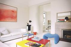 Pierre Paulin, Loft, Decoration, Dining Area, Floor Chair, Color Pop, Colour, Living Spaces, Interior Design