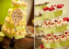 great idea to keep sneaky guests out of the desserts until time to dig in