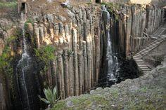 The million-years-in-the-making Prismas basálticos de Santa María Regla. #LiveItToBelieveIt #VisitMexico #Ecotourism #Adventure