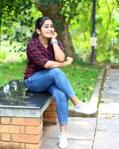 Image may contain: 1 person, sitting, shoes and outdoor Girl Photo Poses, Girl Photos, Girls Jeans, Shirts For Girls, Saree Photoshoot, Cute Girl Pic, Most Beautiful Indian Actress, Beauty Full Girl, Sexy Jeans