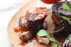Orange Barbecue Beef Short Ribs