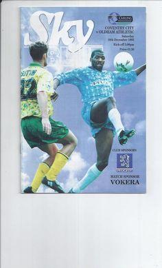 18 December 1993 v Oldham Athletic Drew 1-1
