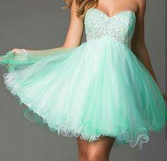 Tiffany blue short bridesmaid dress