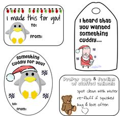 The holidays are fast approaching… and what better way to top off your handmade creations than with a cute gift tag? I've made 4 adorable gift tags for you to print that would go perfec…